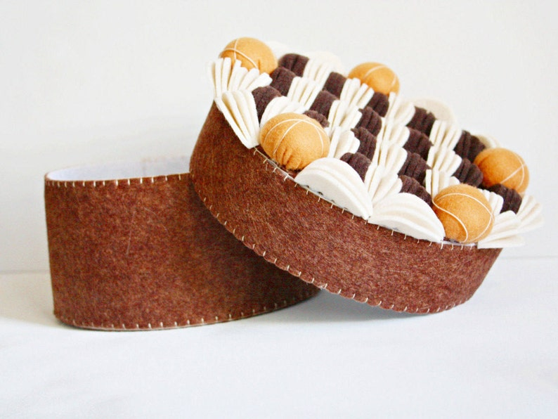 decorative fake cake sewing supplies box image 0