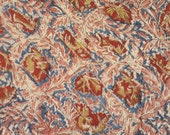 Kalamkari, cotton, handprinted and tucked, from India, one yard or more