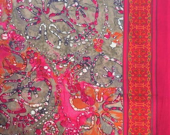 Indian cotton print, paisley, yardage, dress materials, Indian fabric, sewing material