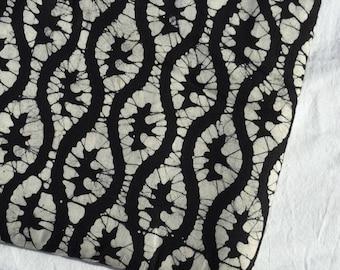 Batik fabric, Indian fabric, wax prints, yardage, khadi, Black and Tan batik