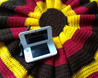 Summer Sunflower throw blanket
