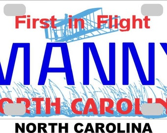 Feet License Plate Postcard First in Flight # 1 Tar Heels North Carolina NC