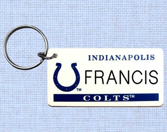 Personalized Indianapolis Colts keychain - key ring