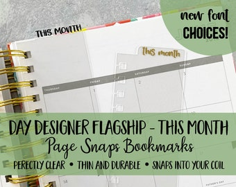 Bookmark THIS MONTH | Day Designer Planners | Page Snap | Page Marker | Planner Clip | Coil | Dashboard | Spiral Snap