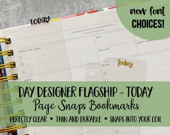 Bookmark Today | Day Designer Planners | Page Snap | Page Marker | Planner Clip | Coil | Dashboard | Spiral Snap