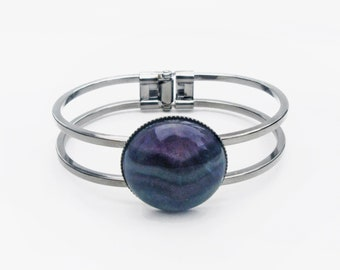 Fluorite Bracelet // Rainbow Fluorite Bracelet // Boho Crystal Bracelet // Minimalist Gemstone Bracelet // Geometric Crystal Bracelet