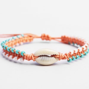 Rainbow Hippie Boho Ying Yang Punch Bug Charm Bangle Bracelet Kawaii