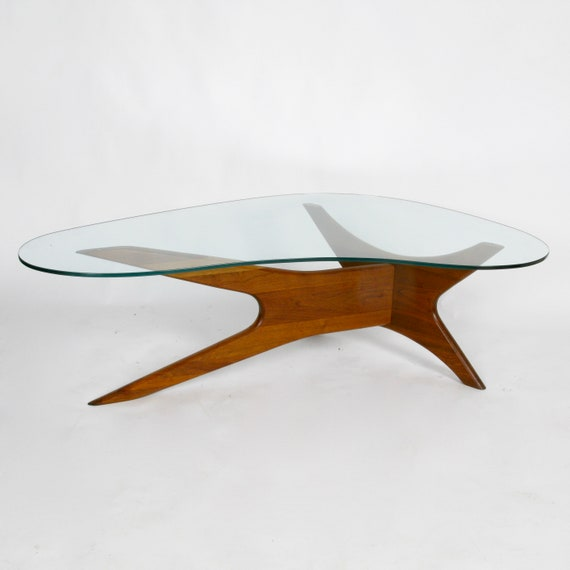 Awesome Mid Century Boomerang Coffee Table By Adrian Pearsall Evergreenethics Interior Chair Design Evergreenethicsorg