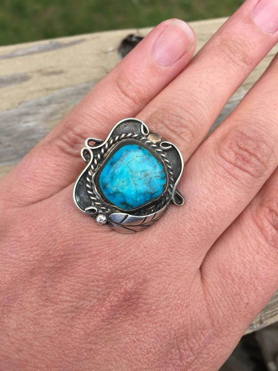Turquoise Native American Handmade Dead Pawn Old P