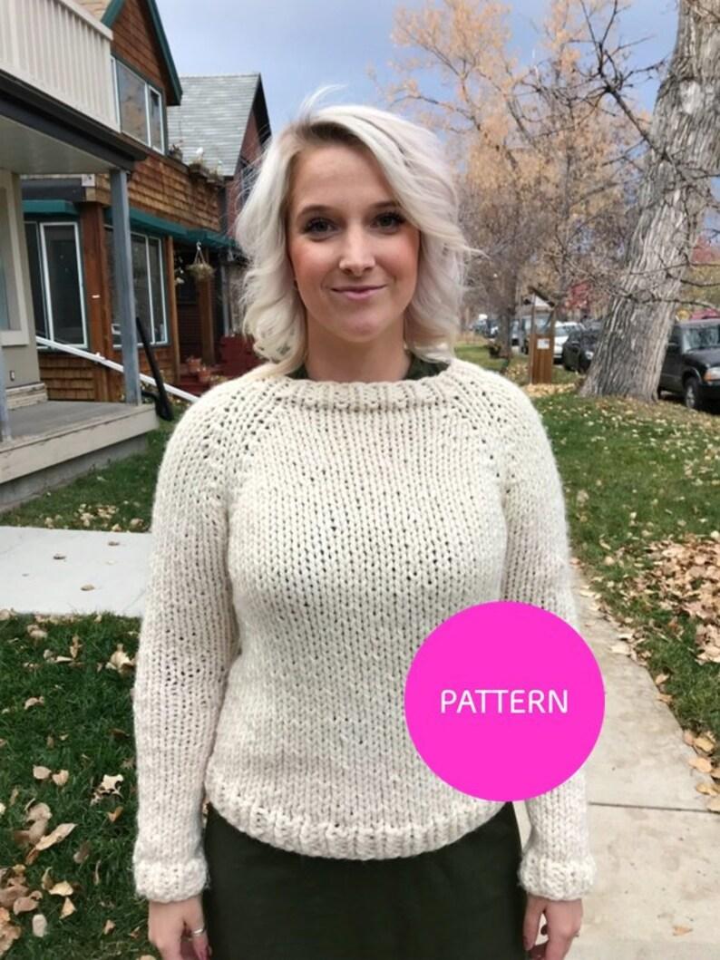 b24f87f3db4b0 KNITTING PATTERN Stockinette Beginner raglan beginner knit
