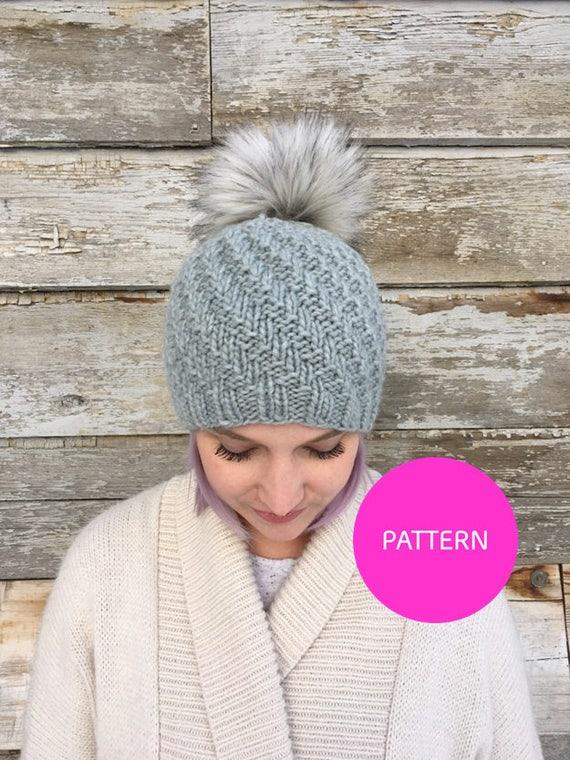 PATTERN ONLY Soft serve beanie knit pattern hat pattern  493c17f6f1d