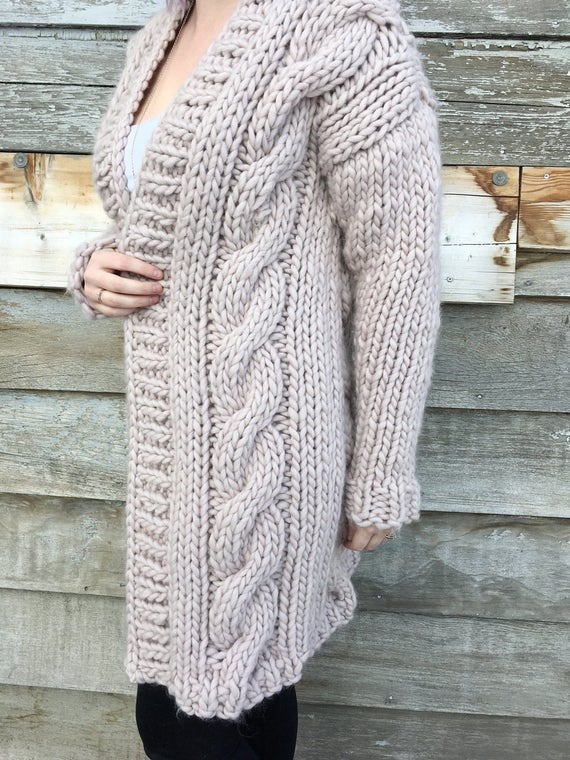 Pattern/ Knitatude Cable Crush Coat pattern cable crush | Etsy