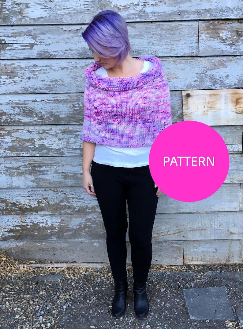 e522709fa Knit pattern Big Braided Shrug knit cabled shrug knit