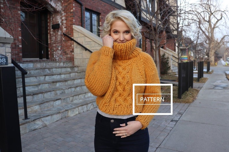 KNITTING PATTERN  Cozy celtic raglan cable sweater celtic image 0