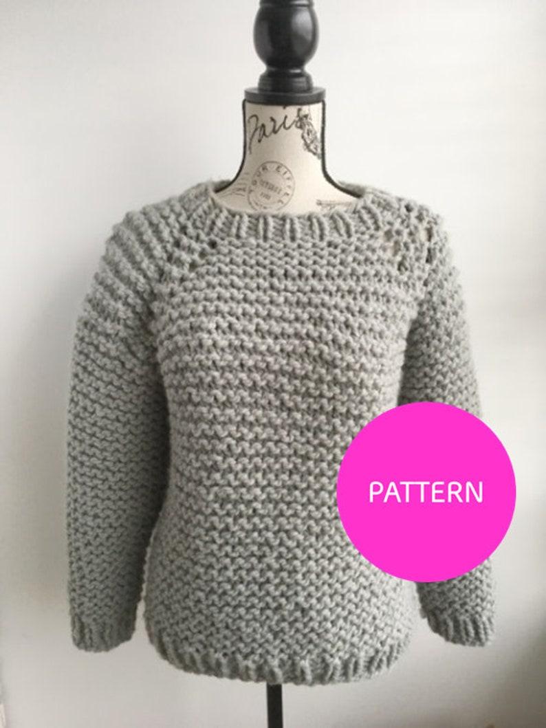702f5a7d0 PATTERN ONLY My beginner raglan chunky knit raglan