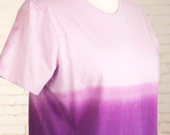 Pastel goth shirt, purple, hand dyed, ombre tshirt, gradient tee, aesthetic clothing, pastel grunge t shirt, bohemian, tie dye, dip dyed