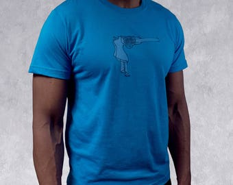 Big brother shirt comedy t shirt boss gift for men blue tee short sleeve t funny gun graphic handprinted funny mens blue top gift for him