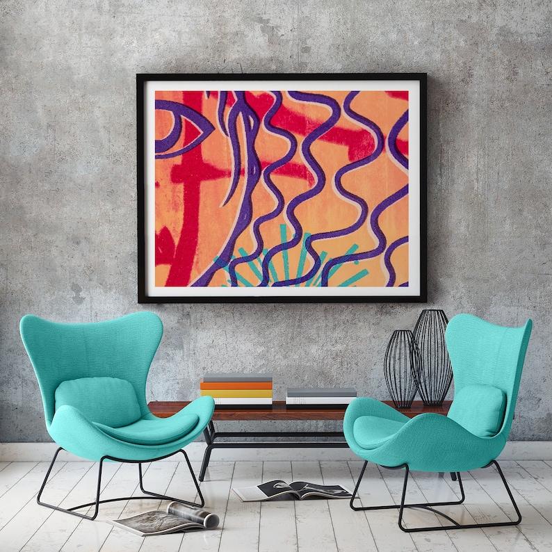 Abstract room decor minimal wall art print gift for home image 0
