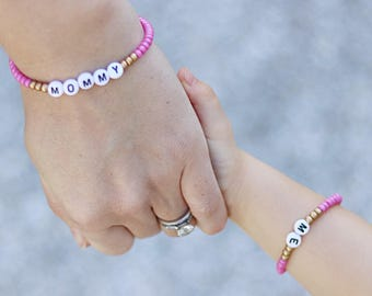 Mommy and Me Bracelet, Mommy and Me Outfits, Mother Daughter Bracelet, Mommy and Me Jewelry, Mommy and Me Matching