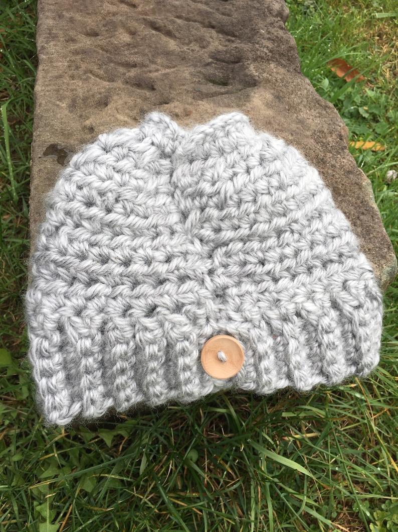Long Hair Hats Claire Bun Beanie Cute CC Accessories Winter Mom Crochet Messy Bun Warm handmade,Top Knot Gift for her Birthday