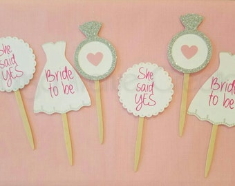 12 bridal shower cupcake toppers wedding shower cupcake toppers custom bridal shower cupcake toppers bride to be cupcakes toppers