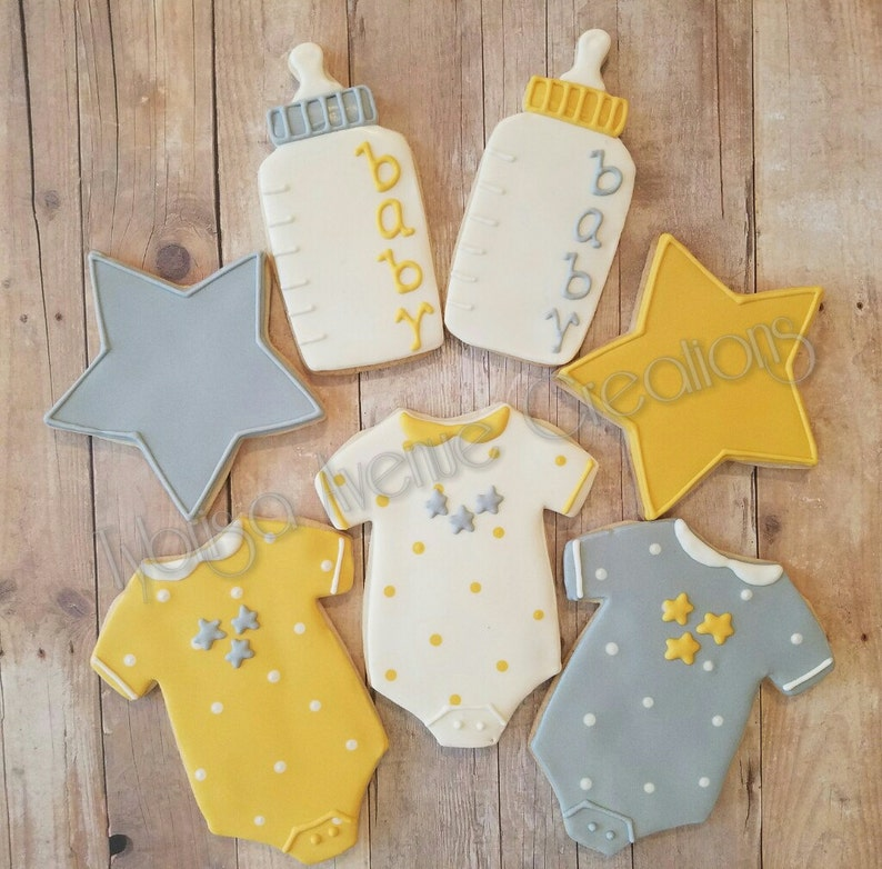 12 Gender Neutral Baby Shower Sugar Cookies Twinkle Little Etsy