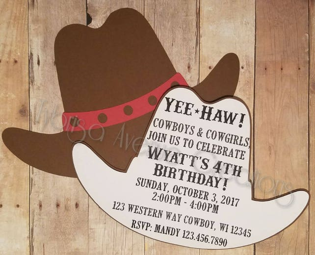 12 cowboy invitations cowgirl birthday invitations rodeo etsy image 0 filmwisefo