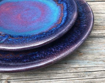 Ready to Ship! Pottery Dinner Plates. Hand thrown ceramic plates in 'patina' - irregulars. Pick your plate!
