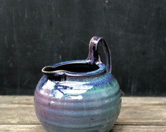Pottery Pitcher-Hand thrown Ceramic Pitcher in 'patina' glaze; for water, juice, lemonade, sangria, margaritas & other special beverages