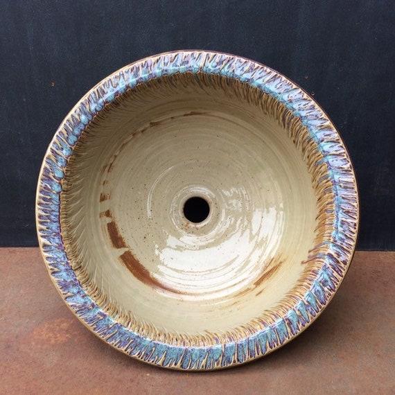 Vendita Lavelli In Ceramica.Vendita 15 75 Lavello In Ceramica Handthrown Con Bordo Etsy