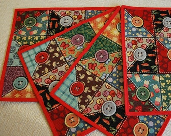 Set of 4 Table Placemats from Italian Jacquard