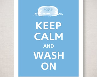Image of: Pinterest Keep Calm And Wash On Digital Download Kids Bathroom Typography Art Print Etsy Keep Calm Quotes Etsy