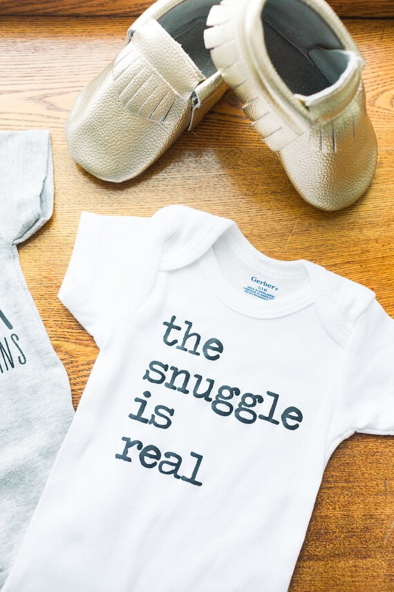 ff2e8df08 The Snuggle is Real // White Newborn Bodysuit Outfit One | Etsy