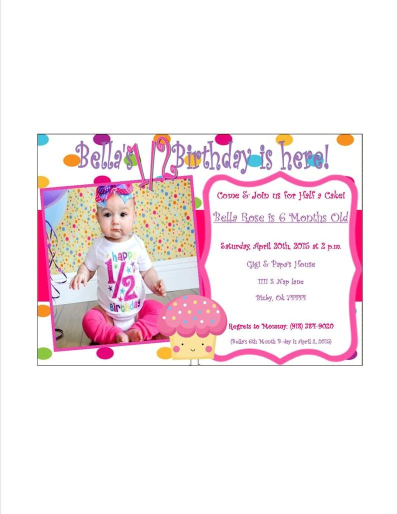 Babys 1 2 Birthday Invitation