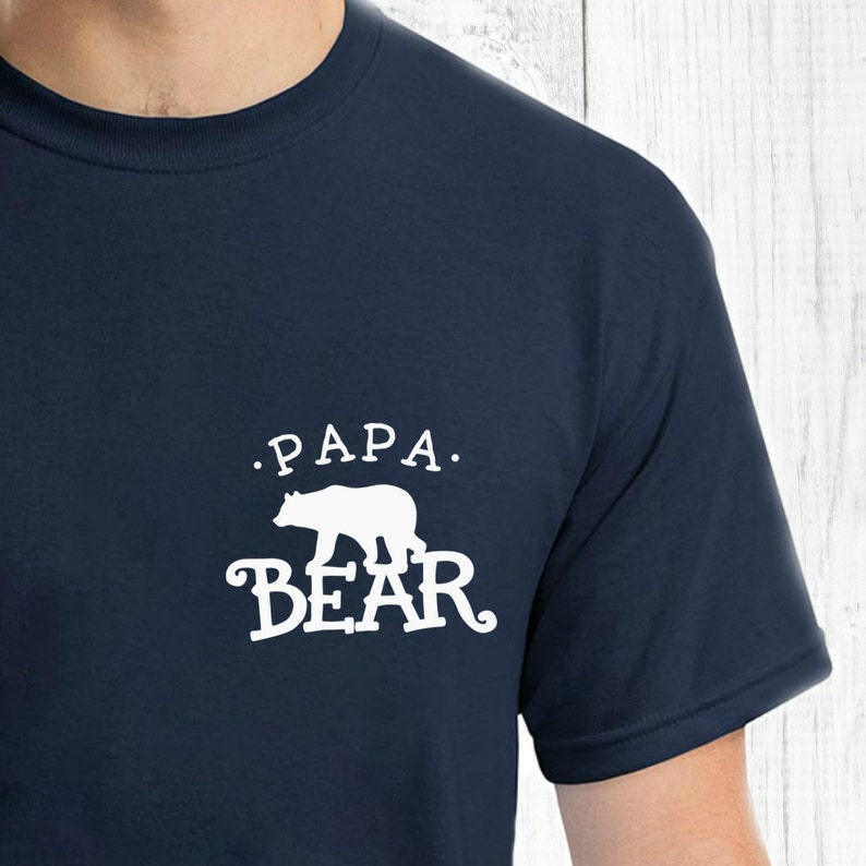 9d7b6bf7 Father Day Family T Shirts Papa Bear T Shirt Set Daddy Son | Etsy