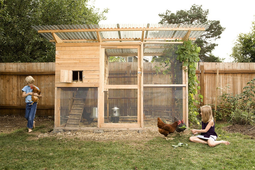 The Garden Coop Walk-In Chicken Coop Plan eBook PDF ...