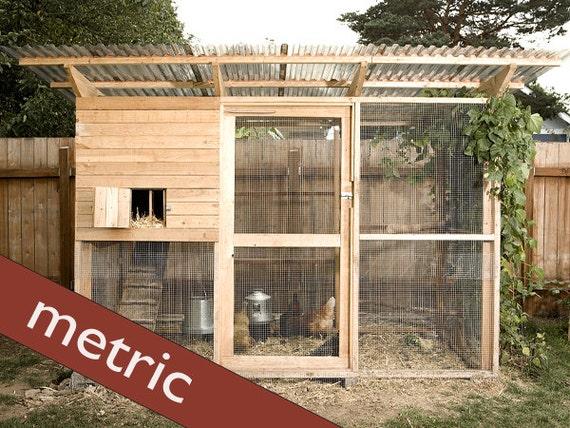Cuscini Coop.The Garden Coop Walk In Chicken Coop Plan Ebook Pdf Instant Etsy