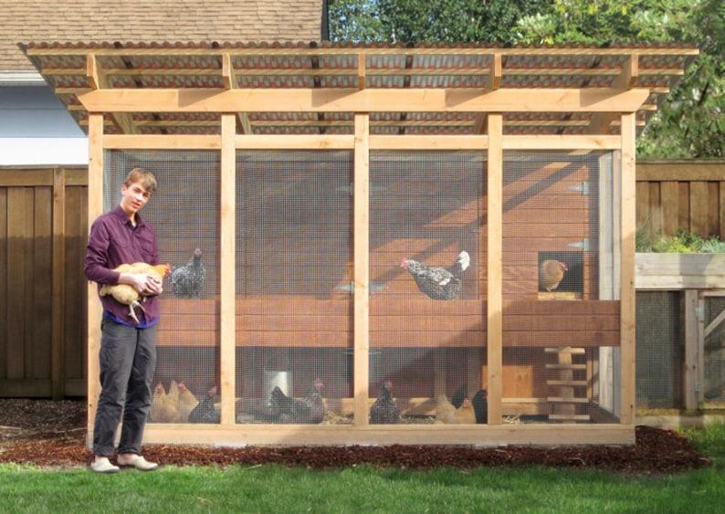The Garden Loft Large Walk In Chicken Coop Plan Ebook Pdf Etsy