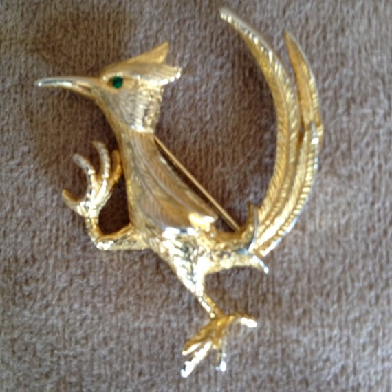 Dress Pin Roadrunner Vintage by Castlecliff Mid-Ce
