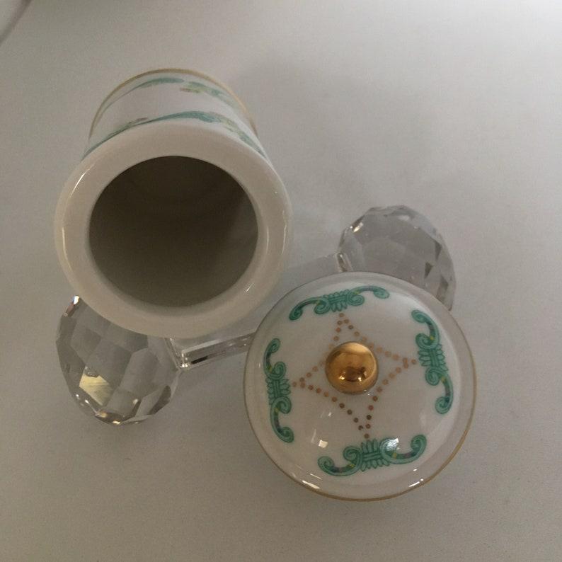 Spice Jar Lenox Vintage 1993 Carousel Tiger Porcelain Coriander Spice Jar Complete Your Spice Rack Shelf or Cupboard Botanical Design
