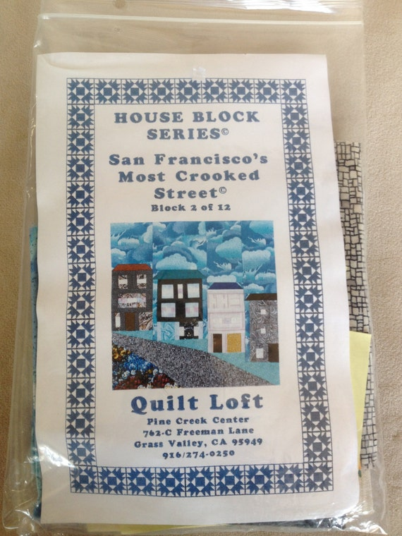 San Francisco Quilt Block Kit Most Crooked Lombard Street Etsy
