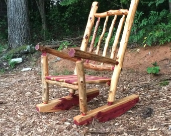 Merveilleux Rustic Cedar Log Rocking Chair   Front Porch Rustic Rocker   Poverty Gulch Rocking  Chair   Log Cabin Rocking Chair   Rustic Rocker