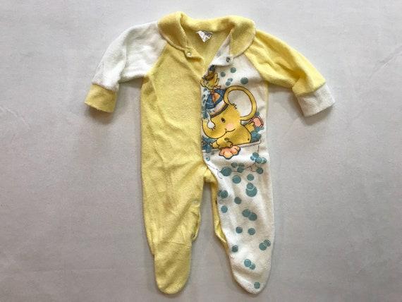 Vintage Kids One Piece Pyjamas Romper Baby Sleepwe