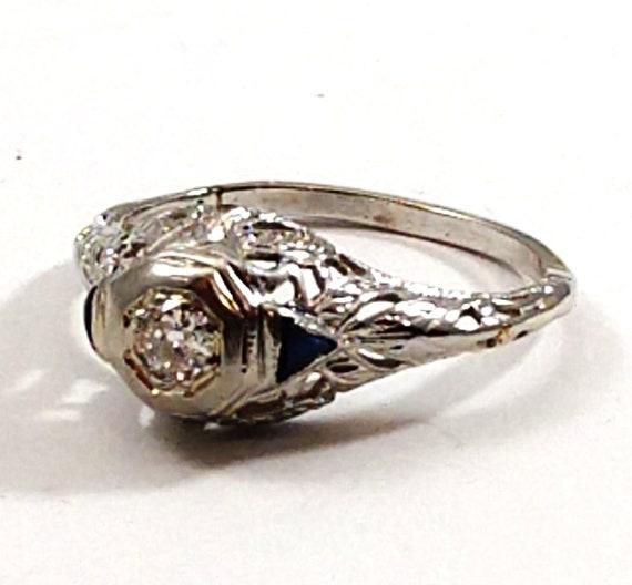 Art Deco Diamond Ring, 1920's