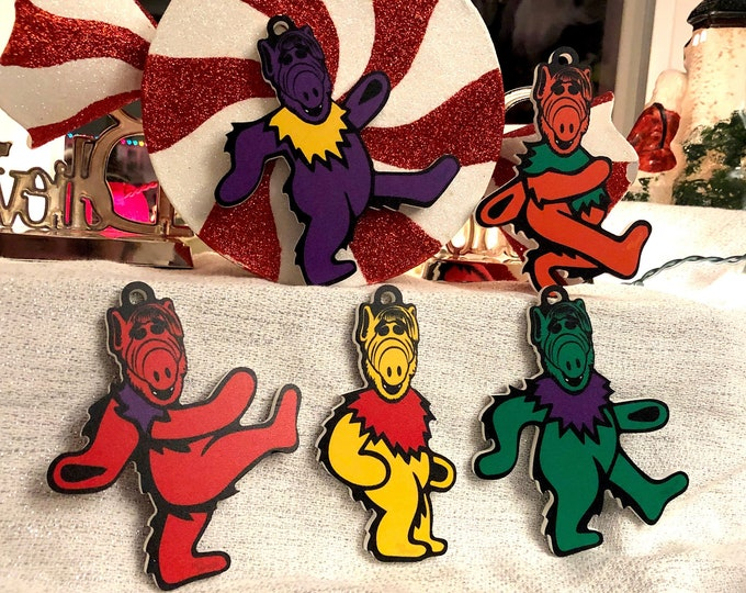Featured listing image: Limited Edition Deadheads from Melmac Christmas Ornaments (Complete Set of 5)