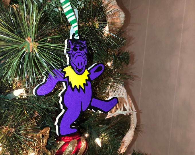 Featured listing image: Limited Edition Deadheads from Melmac PURPLE Christmas Ornament