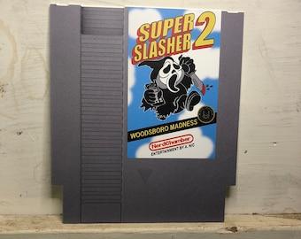 Super Slasher 2 NES Cartridge Aluminum Art Print