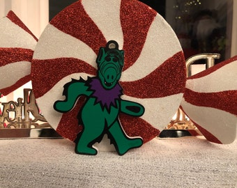 Limited Edition Deadheads from Melmac GREEN Christmas Ornament