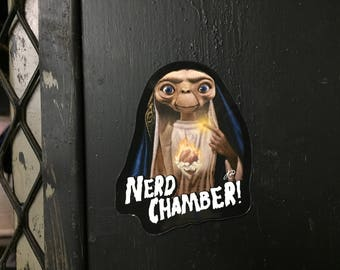 "Nerd Chamber ""Change of Heart"" E.T. Fridge Magnet"