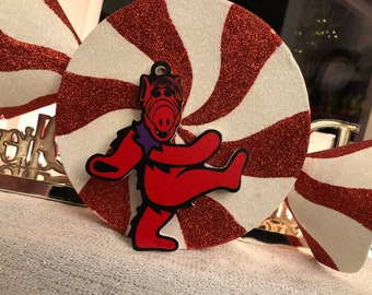Limited Edition Deadheads from Melmac RED Christmas Ornament